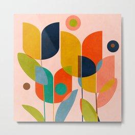 floral shapes III Metal Print