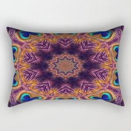 Peacock Fan Star Abstract Rectangular Pillow