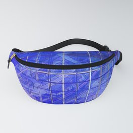 Evolution Cobalt Blue Abstract Fanny Pack
