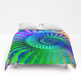 Psychedelic Rainbow Pattern Comforters