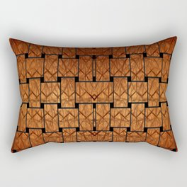 Brown Weave Mat Rectangular Pillow