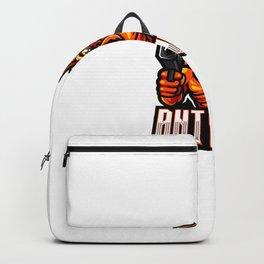 Ant Gunner Esport Mascot Logo Backpack
