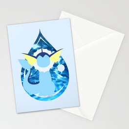 Minimal Vaporeon Stationery Cards