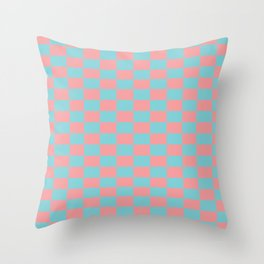Pink spring pattern Throw Pillow