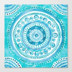 PEARLS OF WISDOM Mermaid Mandala Canvas Print