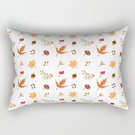 Autumn Elements Pattern Rectangular Pillow