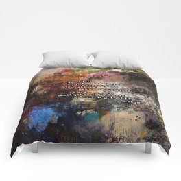 John 3:16 Bible Verse Scripture Abstract Art Painting Christian Inspired Comforters