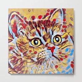 Artsy Cat Metal Print