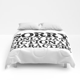 Sorry, I only date fictional characters!  Comforters
