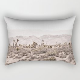 Sierra Nevada Mojave // Desert Landscape Blush Cactus Mountain Range Las Vegas Photography Rectangular Pillow