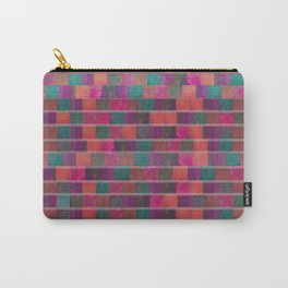 """Full Color Squares Pattern"" Carry-All Pouch"