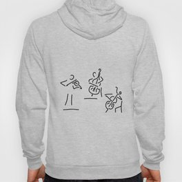 violinist cellist string player contrabass Hoody