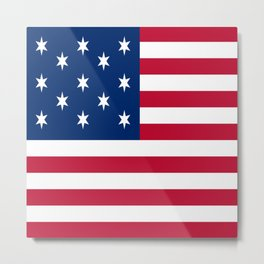 Historical flag of the USA : Hopkinson Metal Print