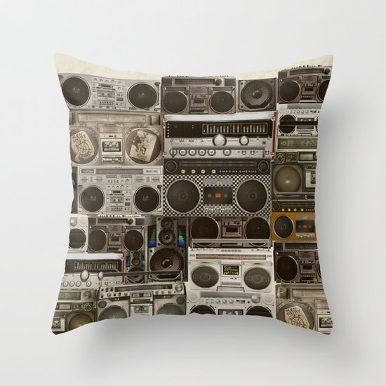 Wall Of Sound Throw Pillow
