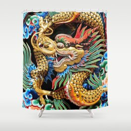 Chinese Dragon Art Mythical Shower Curtain