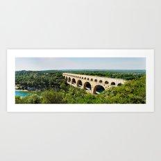 Pont Du Garde Panorama Art Print