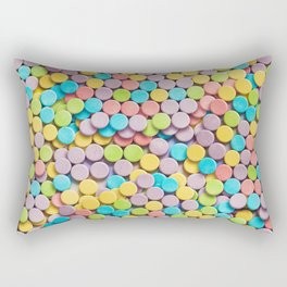 Sweet Tarts Sweet and Sour Candy Photo Pattern Rectangular Pillow