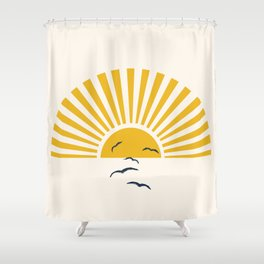 Minimalistic Summer I Shower Curtain