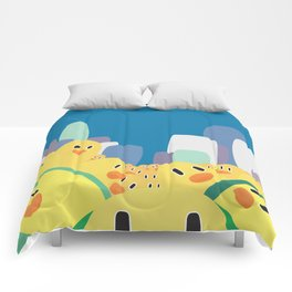 Zombie Chicks Are Out To Get Us Comforters