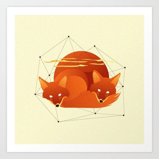 Fiery Fox Art Print