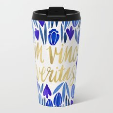 In Wine, There is Truth – Navy & Gold Travel Mug