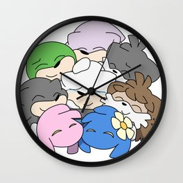 Group Hug Wall Clock