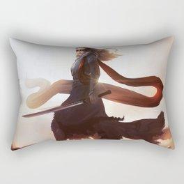 Lexa kom Trikru Rectangular Pillow