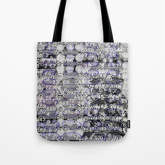 Post-Digital Tendencies Emerge (P/D3 Glitch Collage Studies) Tote Bag