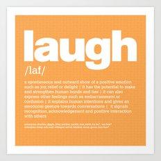 definition LLL - Laugh Art Print