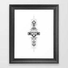 Geometric Device Framed Art Print