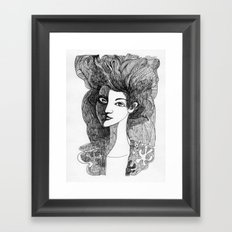 Young woman Framed Art Print