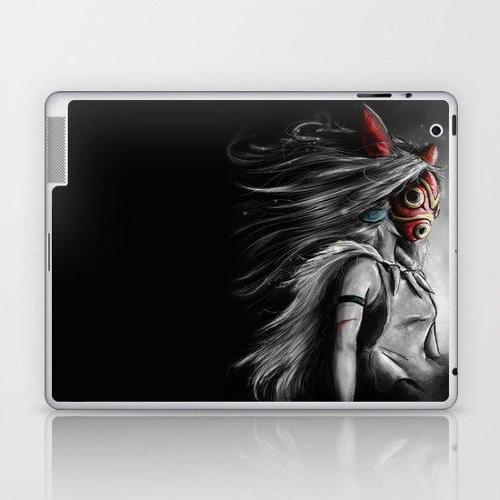 Miyazaki's Mononoke Hime Digital Painting the Wolf Princess Warrior Color Variation Laptop & iPad Skin