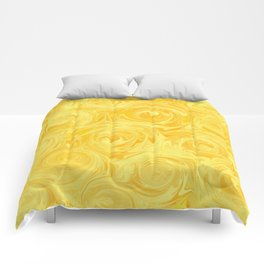 Honey Yellow Roses Abstract Comforters