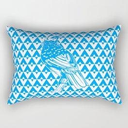 Tui  Chevron Design - Azure Rectangular Pillow