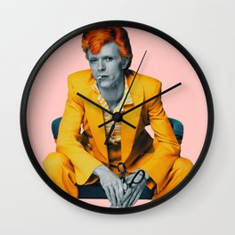 pinky bowie 2 Wall Clock