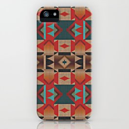 Native American Indian Tribal Mosaic Rustic Cabin Pattern iPhone Case