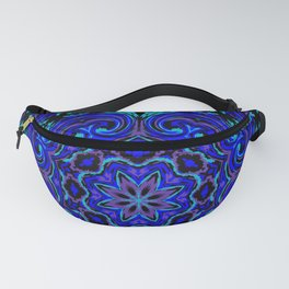 Bright Blue Kaleidoscope Fanny Pack