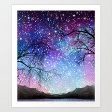 Space tree 180715 Art Print
