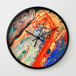 Acrylic Pour Four Wall Clock