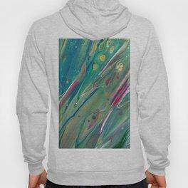 Fluid Nature - Budding Irises - Abstract Acrylic Hoody