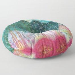 Mountain Winter Solstice Floor Pillow