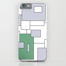 Squares - gray, green and white. iPhone 6s Slim Case
