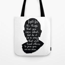 Ruth Bader Ginsburg Quote Tote Bag