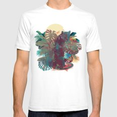 Panther Square White Mens Fitted Tee SMALL