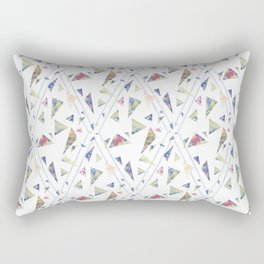 I wanted flowers but you gave me triangles Rectangular Pillow