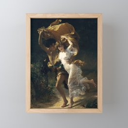 The Storm, 1880 by Pierre Auguste Cot Framed Mini Art Print