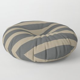 Brown Cafe latte Stripes on Gray Background Floor Pillow