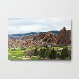 Golf Heaven Metal Print