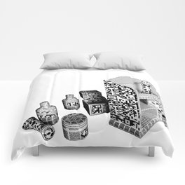 Black and White Everyday Life Internet of Things Comforters