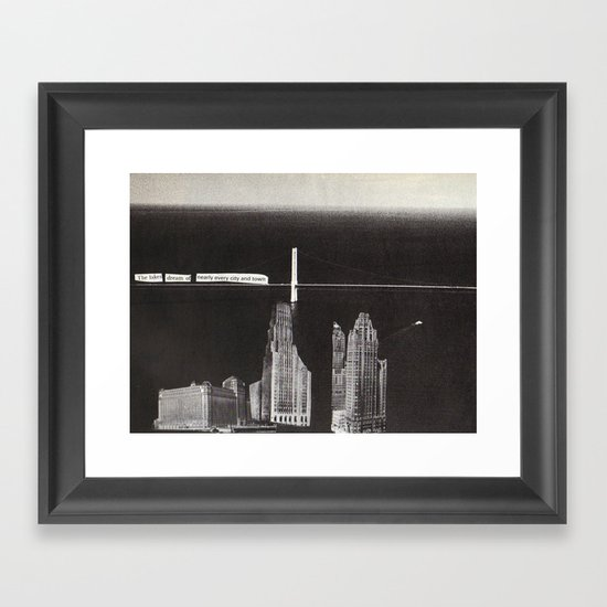 the buildings dream Framed Art Print